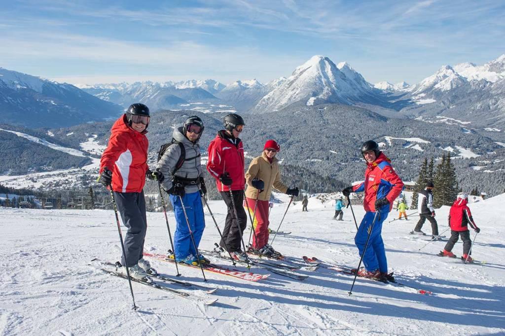 Erwachsenen Skikurs Schischule Seefeld