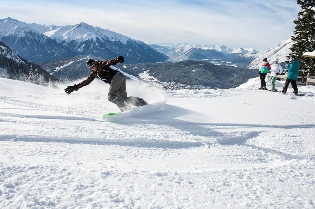 Snowboarden Schischule Seefeld