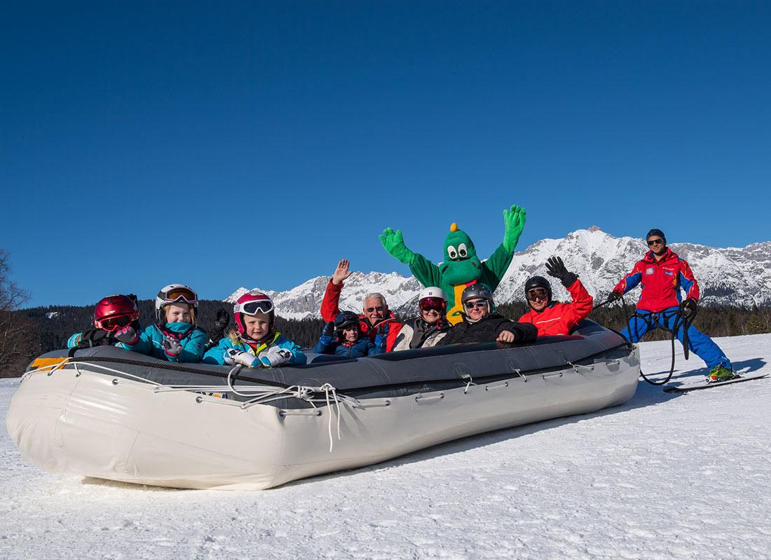 Snowrafting in Seefeld in Tirol