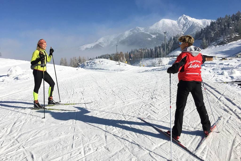 Langlauf Privatuntericht in seefeld in Tirol
